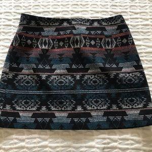 Kenar Wool Blend Aztec Print Skirt